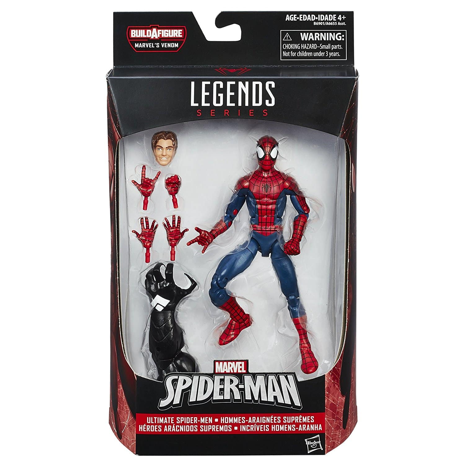 Boneco Marvel Venom Build-a-Figure Legends Series Homem Aranha 16 cm